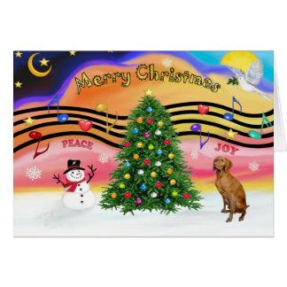 Christmas Music 2 - Vizsla Card
