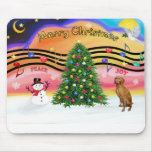 Christmas Music 2 - Vizsla Mouse Pad