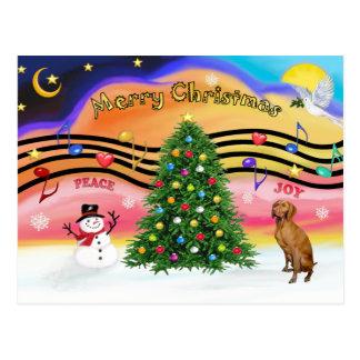 Christmas Music 2 - Vizsla Postcard