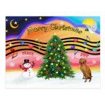 Christmas Music 2 - Vizsla Postcards