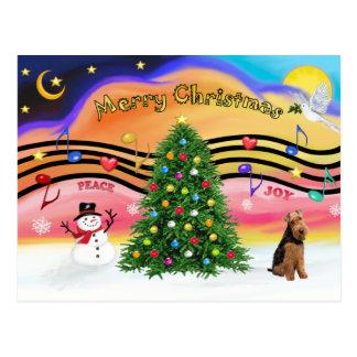 Christmas Music 2 - Welsh Terrier Post Cards