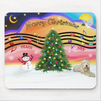 Christmas Music 2 - Wheaten Terrier (ld) Mouse Pad