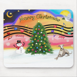 Christmas Music 2 - Whippet (Ld) Mouse Pad