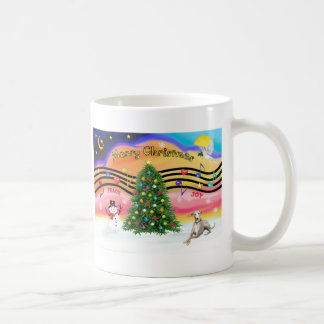 Christmas Music 2 - Whippet (Ld) Classic White Coffee Mug