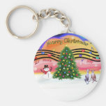 Christmas Music 2 - Whippets (two) Key Chain