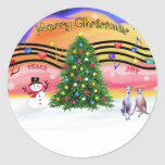 Christmas Music 2 - Whippets (two) Sticker