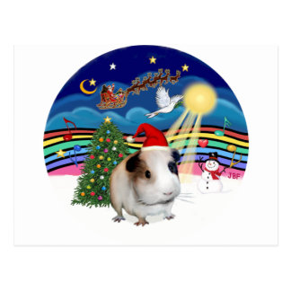Christmas Music 3 - Guinea Pig 1 (hat) Postcard