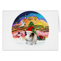 Christmas Music - Guinea Pig1 (hat) Card