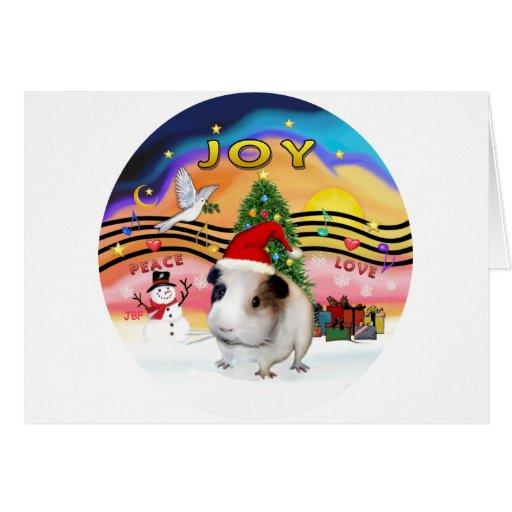 Christmas Music - Guinea Pig1 (hat) Card