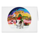 Christmas Music - Guinea Pig1 (hat) Greeting Cards