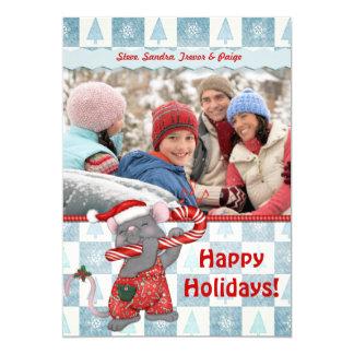 Christmas Music Mouse Greetings Card