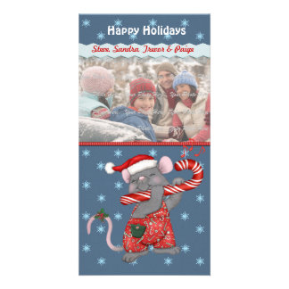 Christmas Music Mouse Photo Card