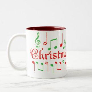 Christmas Music Mug! Two-Tone Coffee Mug