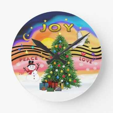 Christmas Themed Christmas Music Round Clock