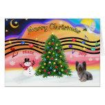 Christmas Music - Skye Terrier 2 Card