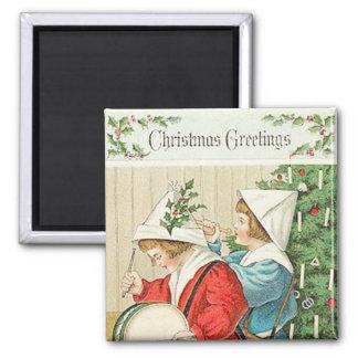 Christmas Music Vintage Magnet