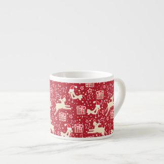 Christmas musical birds and reindeer espresso mug