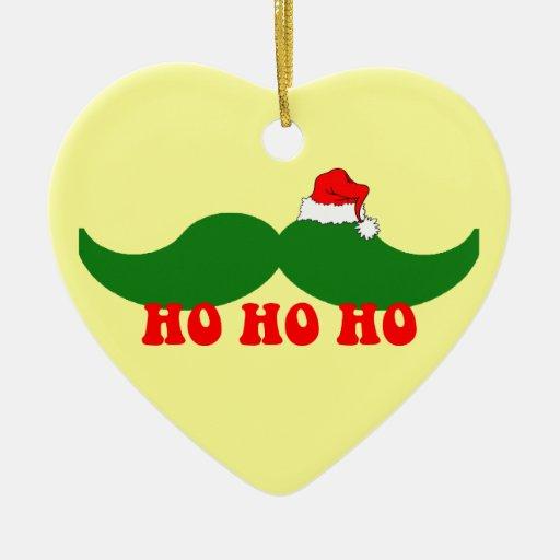 Christmas mustache christmas ornaments