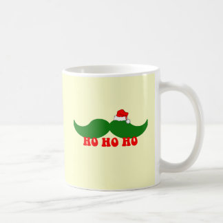 Christmas mustache coffee mug