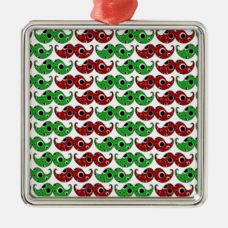 Christmas Mustache Pattern Christmas Ornament