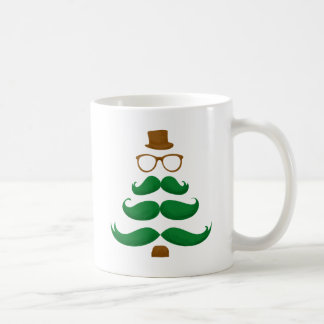 Christmas Mustache Tree Coffee Mug