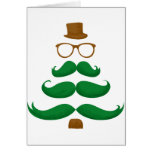 Christmas Mustache Tree Greeting Cards