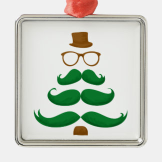 Christmas Mustache Tree Christmas Tree Ornament