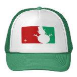 Christmas MVP Snowman logo Mesh Hats