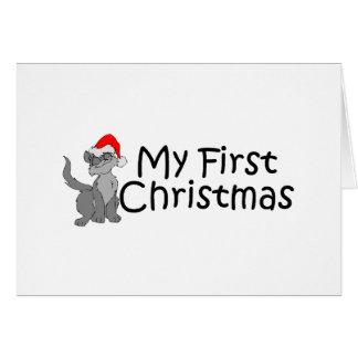 Christmas My First Christmas (Kitty) Greeting Card