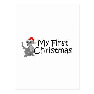 Christmas My First Christmas (Kitty) Postcard