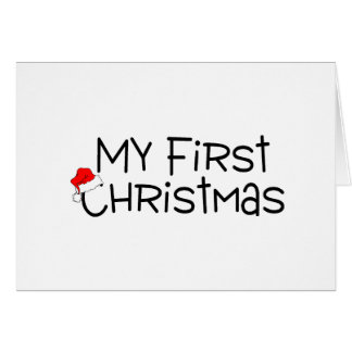 Christmas My First Christmas (Santa Hat) Greeting Card