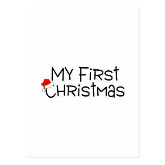Christmas My First Christmas (Santa Hat) Postcard