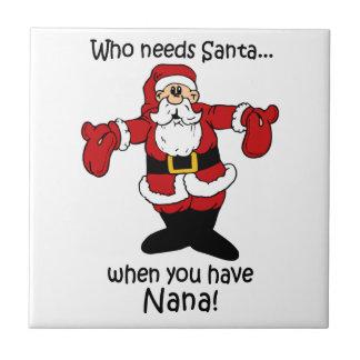 Christmas Nana Tile Trivet