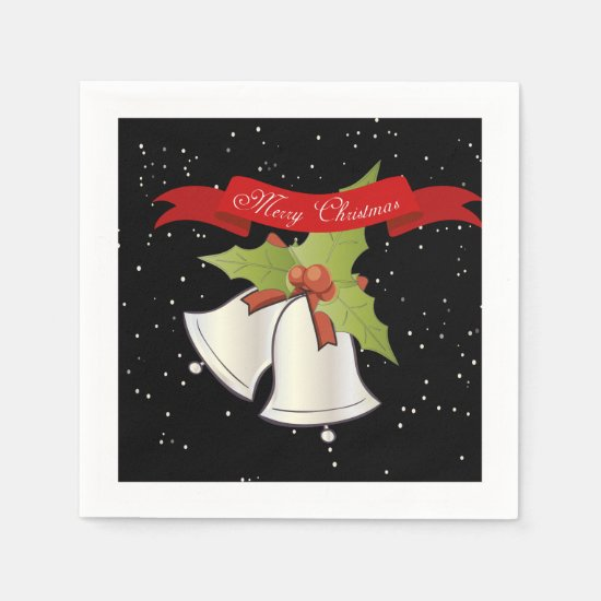 Christmas Napkins - Christmas Bells