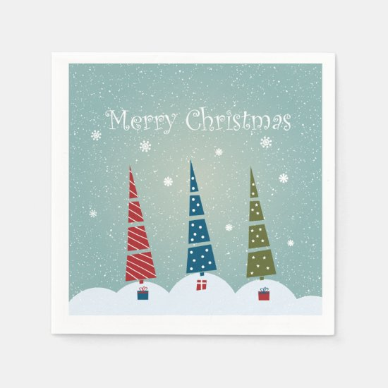 Christmas Napkins - Christmas Trees