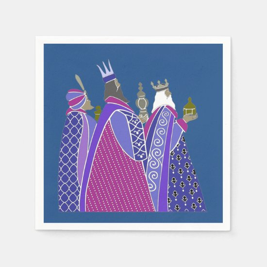 Christmas Napkins - Christmas Wise Men