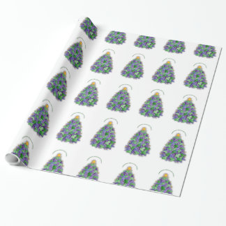 Christmas Nappa Valley Wine Grapes Tree Gift Wrap Paper