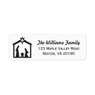 Christmas Nativity Address Labels