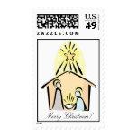 Christmas Nativity Custom Postage Stamp
