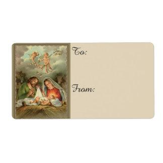 Christmas Nativity Holy Family Label