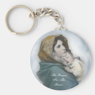 "Christmas Nativity Key Chain ""The reason for the s"