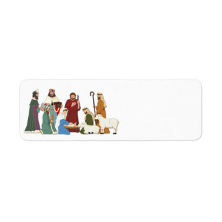 Christmas Nativity Label