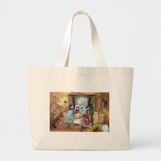Christmas Nativity Large Tote Bag