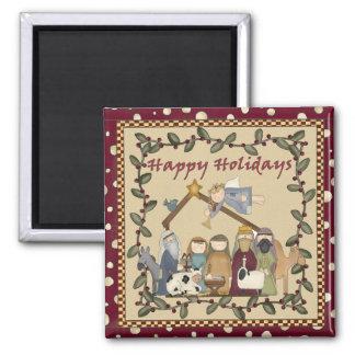 Christmas Nativity Manger Magnet