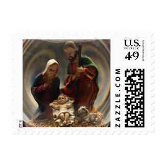 Christmas Nativity Manger Scene Stamp