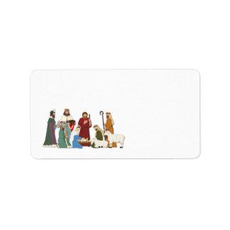 Christmas Nativity Personalized Address Label