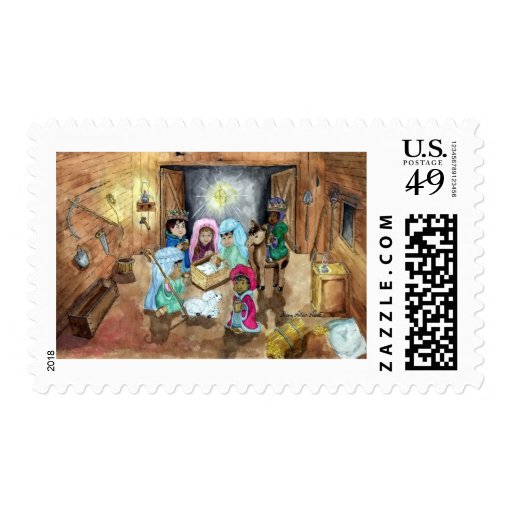 Christmas Nativity Postage Stamps