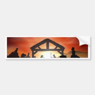 Christmas Nativity Scene Bumper Stickers