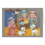 Christmas nativity scene cards
