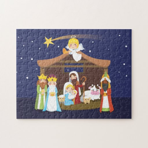 Christmas Nativity Scene Jigsaw Puzzle